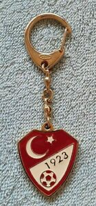Turkish Football Federation, vintage gold plated keychain in excellent condition