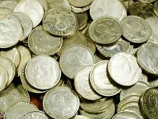 AVERAGE CIRCULATED 1937-1939 SILVER 2 MARK NAZI COINS W/ SWASTIKA  2 REICHSMARK