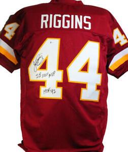 John Riggins Autographed Maroon Pro Style Jersey w/ 2 insc- Beckett W *Black