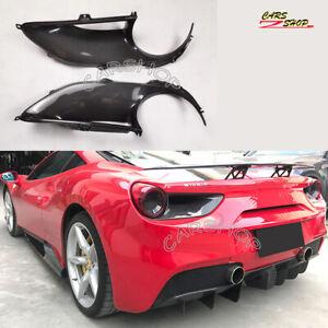 For Ferrari 488 GTB Spider Real Carbon Fiber Rear Fog Tail Light Surround Cover