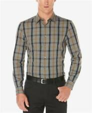 Perry Ellis Long Sleeve Dull Gold Shirt Mens Size Small New