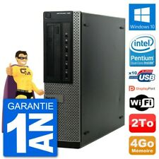 PC Dell OptiPlex 790 DT Intel G630 RAM 4Go Disque Dur 2To Windows 10 Wifi
