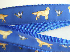 GOLDEN RETRIEVER BREED SPECIFIC RIBBON DOG COLLAR or LEAD LEASH or MARTINGALE