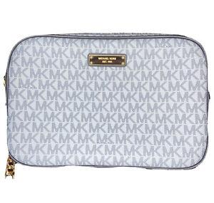 Michael Kors Women's Crossbody Bag Jet Set Travel Leather, Light Blue