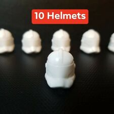 20 LEGO Star Wars Compatible Plastic Injected Clone Trooper Phase 2 Helmet LOT