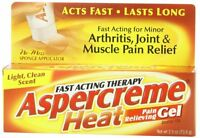 3 Pack - ASPERCREME Heat Pain Relieving Gel 2.50oz Each