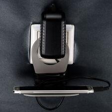 Grau Handy-Halterung für Steckdose Handyhalter Ladehalterung Halter Aufladen