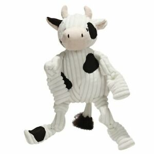 Hugglehounds KNOTTIE COW Squeaker Dog Toy SMALL