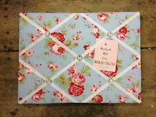 Cath Kidston Ikea Rosali Fabric pin/memo/Notice Board 30x40cm Blue Xmas Gift