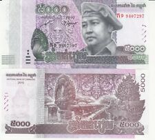 Billet banque CAMBODGE CAMBODIA KHMER ANGKOR 5000 RIELS 2015 NEUF UNC NEW