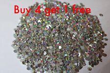 Cristales de Swarovski AB Holográfico no HOT FIX rhinestones Nail Art Decor Todas Las Tallas