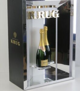 Contemporary Illuminated Glass Krug Champagne Bar Display Cabinet