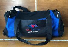 Disney Cruise Line Black and Blue Duffel Gym Bag Human Resources