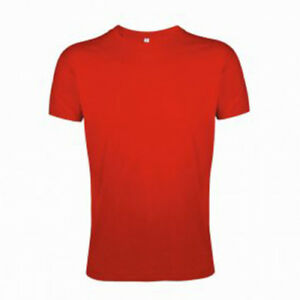 SOL'S Regent Fit 10553 Red Summer Short Sleeve Top T-Shirt