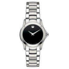Movado Women Watch Stalo Military Black Museum Dial Stainless Steel-0605870