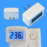 LCD Digital Voltmeter Volt Meter Monitor AC 110V Plug 80-300V Voltage Tester~