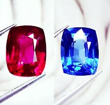 Loose Gemstone Natural 8 to 10 Cts Certified Blue Sapphire & Ruby Pair