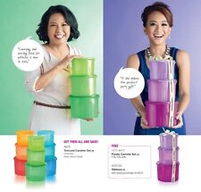 New Tupperware Textured Canister 12 pcs - Buy 9 pcs Free 3 pcs