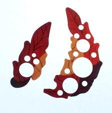 Set of 2 Self Stick Guitar Pickguard Grape Leaf ovation style Sound Hole Covers