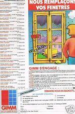 Publicité advertising 1990 Les Portes Fenetres GIMM menuiseries