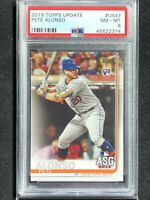 2019 Topps Update Pete Alonso PSA 8 NM-MT