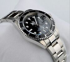DIVERS WATCH SUB STAINLESS & BLACK CLASSIC LUXURY QUARTZ WATCH, AUSSIE SELLER