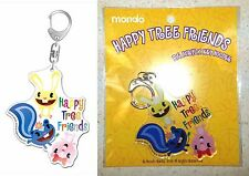 Happy Tree Friends Big Acrylic Key Chain Cuddles Petunia Giggles Mondo Licensed