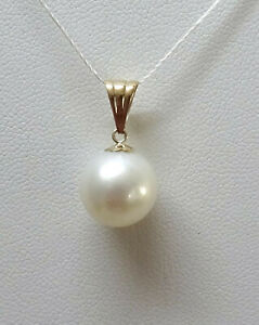 Cultured South Sea Pearl 11.40mm - 9K Yellow Gold Pendant