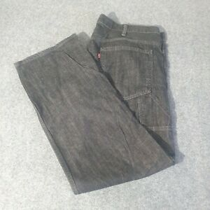 LEVI'S JEANS 532 Black Straight W38 L32 S40196 Good Condition Pre owned Jeans