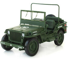 WWII military Jeep Willis Tactics 1:18 Alloy Diecast Model Cars Collections Gift