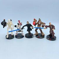 Hasbro Star Wars Attacktix Battle Darth Vader Wookiee Obi-Wan LFL 2005 Lot Of 5