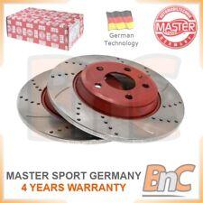 # GENUINE MASTER-SPORT GERMANY HEAVY DUTY REAR BRAKE DISC SET FOR AUDI
