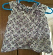 Baby Girls Lilac Pattern Top Size 3-6 Months