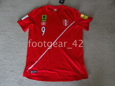 Official Peru Paolo Guerrero PG9 Soccer Jersey Russia 2018 Qualifiers WC Shirt