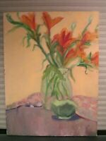 "Original Oil Painting 18""x24"" Impressionism Still Life Artist Signed"