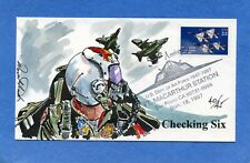 Nouvelle annonce Sc #3167 Air Force 50th Anniv Wild Horse Hand Drawn & HP Cachet First Day Cover