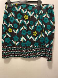 White Stuff Floral Print Needlecord Skirt UK Size 18