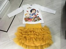 Girls Designer Monnalisa Snow White Outfit Age 4 Years New Condition