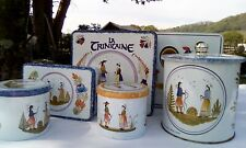 Six Breton biscuit tins French vintage Brittany