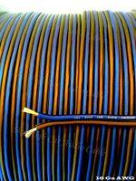 500 ' feet TRUE 16 Gauge AWG BL/BK Speaker Wire W/ ROLL Car Home Audio ft