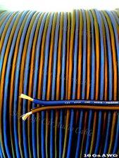 600 ' feet TRUE 16 Gauge AWG BL/BK Speaker Wire W/ ROLL Car Home Audio ft