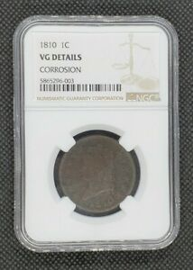 1810 Classic Head Large Cent | NGC VG Details, Corrosion