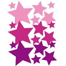 Autoaufkleber Auto Sticker Sterne PKW Aufkleber  Rosa/Pink/Lila; Car Tribal