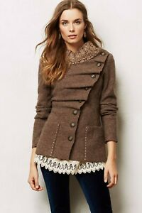 By Gro Abrahamsson Anthropologie Arslan Boiled Brown Wool Cardigan Size S