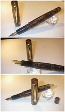 Celluloid Autumn Wild fountain pen button filler  - Stylo nib Schmidt