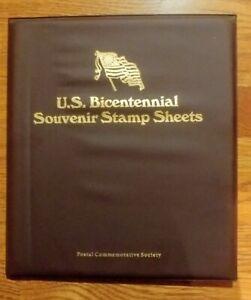U.S. BICENTENNIAL SOUVENIR STAMP SHEETS / PCS  4-Stamp Sheets & Folio