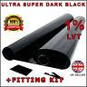 Ultra Super Noir Noir 1% 6M x75CM 2 X Rouleau 3M Film Teintage de Vitre Voiture