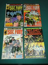 MARVEL COMICS SGT. FURY AND HIS HOWLING COMMANDOS GROUP #130,149,153 & 154!!