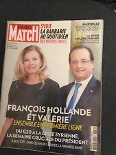 François Hollande & Valérie-La reine Mylène Farmer-Paris Match N° 3356-09/2013