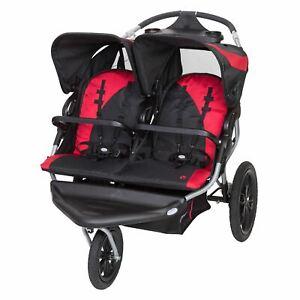 Baby Trend Navigator Lite Double Jogging Stroller, Candy Apple
